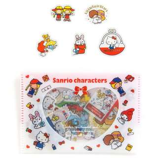 (Mix & Match)*Sanrio Japan - Sanrio Characters Red theme Sticker Flakes in Plastic Pouch