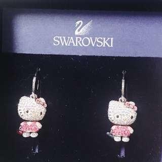 💯正貨! Swarovski hello kitty earring