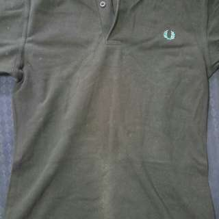 Black Authentic Fred Perry Polo Tee