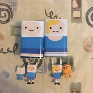Adventure Time Tin Sets (with figurines, erasers, and pencils)