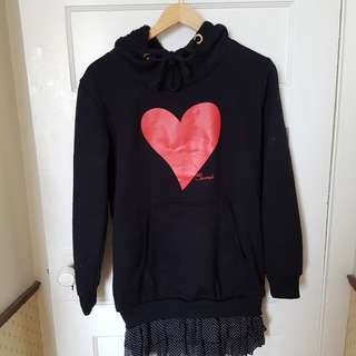 59 Seconds Hoodie with built in botton skirt