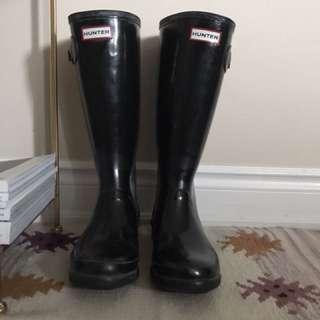 Hunter Rain Boots Wide Calf (Glossy)