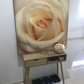 Rose print canvas 💛