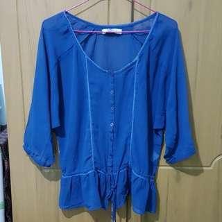 Sheer chiffon blouse