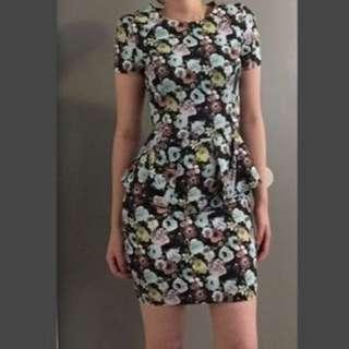 H&m peplum floral dress