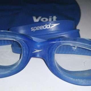 Kacamata renang + penutup kepala