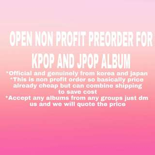 [PREORDER/NONPROFIT] EXO RED VELVET MONSTA X WANNA ONE BTS GOT7 JBJ SEVENTEEN INFINITE BIG BANG IKON BLACK PINK GIRLS GENERATION SUPER JUNIOR TVXQ SUNMI SHINEE NCT127 NCT DREAM NCT BOA TAEYEON PRODUCE101 MOMOLAND GUGUDAN PRISTIN IOI MXM STRAY BOYS  NUEST