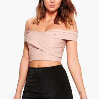 new pink crop top