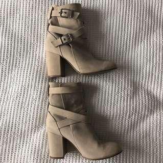 Kookai cream leather boots