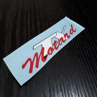 Aftermarket Araj Rear TX Motard Emblem Sticker