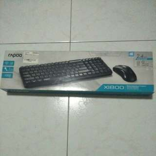 Rapoo Wireless Keyboard And Mouse