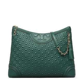 Authentic Tory Burch Fleming Tote Bag, Green