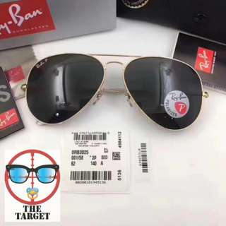 ray Ban aviator lenses polarized rb3025 58/62mm size rayban brand new full packages original