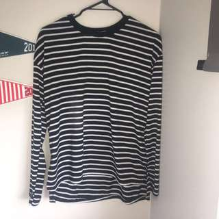WHITE CLOSET STRIPED TOP