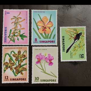 Singapore 1962 orchids and bird MNH very fresh gum