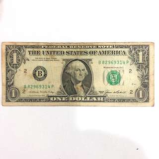 1985 US One Dollar Bill  (New york)