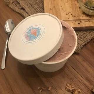 Rare! Strawberry flavored sugar and gluten free gelato ice cream with coconut base by Gelato Labs