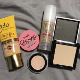 Benefit Make Up Bundle with Freebie Belo Tinted Sunscreen