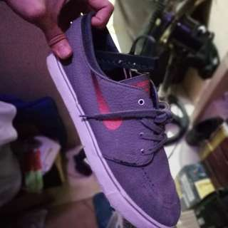 Nike sb janoski leather gray