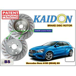 "Mercedes Benz A180 brake disc rotor KAIDON (REAR) type ""BS"" / ""RS"" spec"