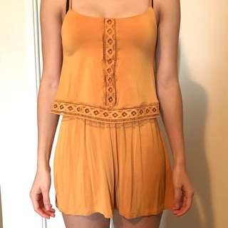 Garage Yellow Romper XXS