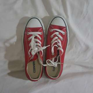 Repriced!!! Red Converse