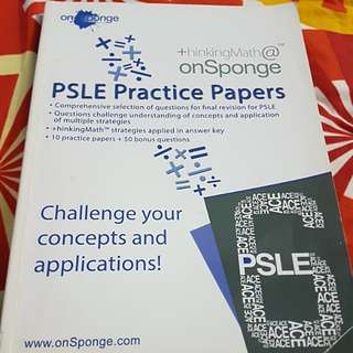 Thinkingmath Onsponge PSLE Practice Papers for Maths