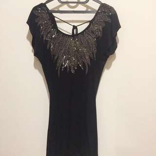 Wearhouse Beaded Black Top