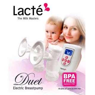 *Reduce rm50 *Lacte duet breastpump