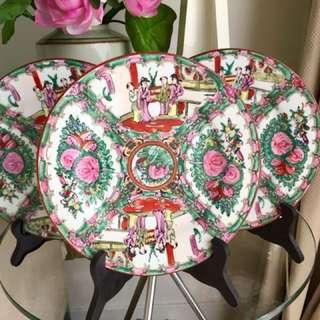 Vintage Famille Rose Plates