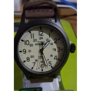 Authentic Mens Timex Expedition leather