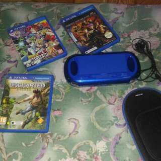 Ps vita 1000 fat with games(pwede swap ps4 console)