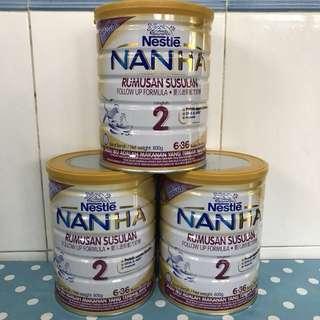 3 tins NAN HA 2 800g