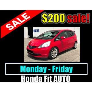 Weekday Promo Honda Fit