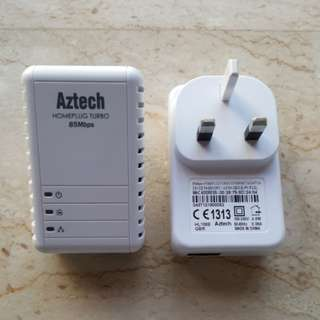 Aztech 85Mbps Homeplug Turbo Ethernet Adapter