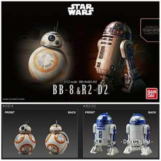 Bandai BB8 R2D2 Model Kit