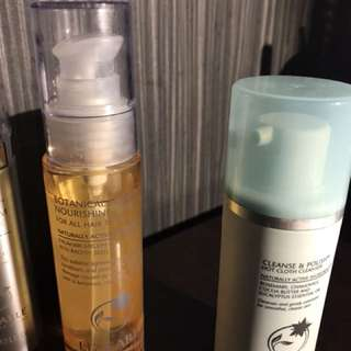 Liz Earle cleanser ,face searum and nourishing hair oil
