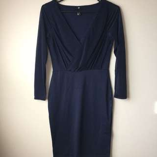 H&M navy dress