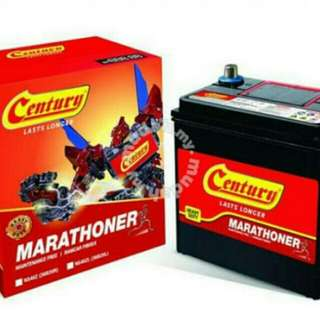 Car battery Century/Amaron Delivery 24jam
