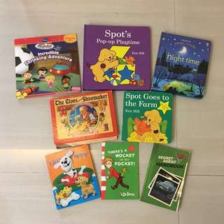 PL Spots Books, Usborne Night Time etc