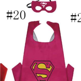 Supergirl Superhero Cape and Mask Costume set