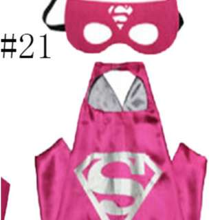 Supergirl Pink Costume and cape set