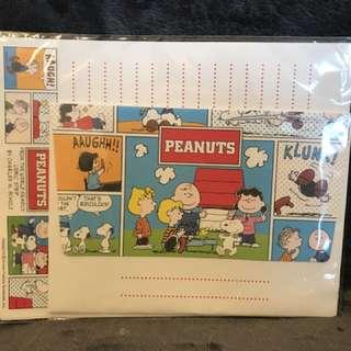 Snoopy Letter Set (WP x 9 pcs, Envelope x 3 pcs),已包本地平郵