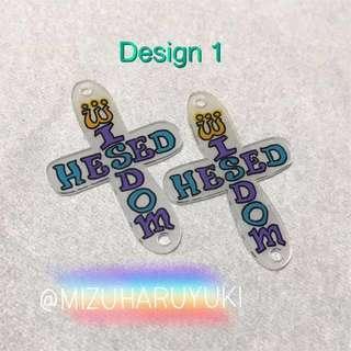 HESED WISDOM earrings / keychains / gifts / pendants / tags