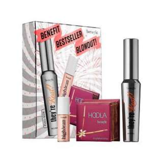 Authentic Benefit Bestseller Set - They're Real Mascara, Hoola Bronzer and High Beam highlighter