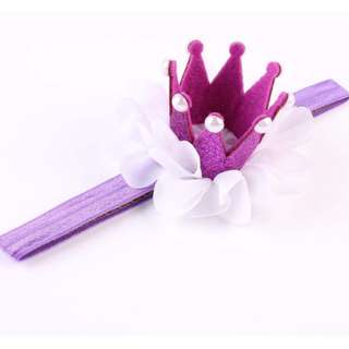 Newborn Crown Headband Princess Queen Crown Hairband Pearl Tiara Lace Headwear Hair Accessories