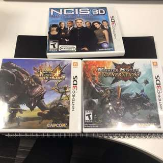 Monster Hunter GENERATIONs 3DS XL 2DS GAMES