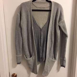 Lululemon faux layer knit cardigan - size 6
