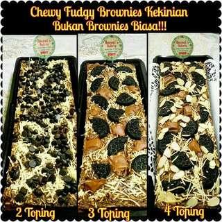 Brownies Kekinian (Chewy Fudgy Brownies)