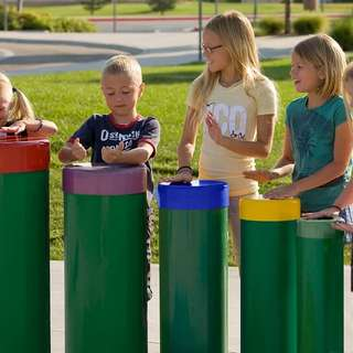 Outdoor Musical Instruments - The Tuned Drums & The Yantzee